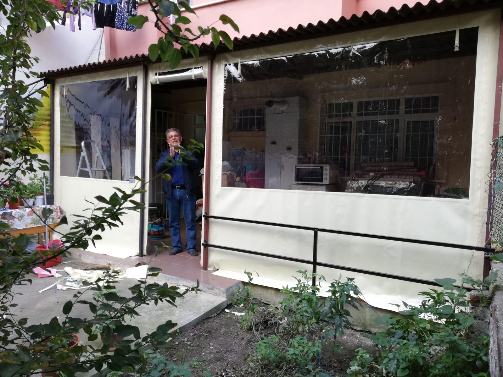Şeffaf kapama bahçe